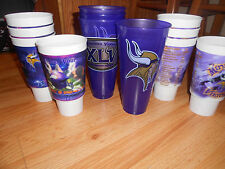 12 NFL Minnesota Vikings Holographic Stadium Party Cups LOT - Plastic, Drinking