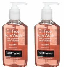 Neutrogena Oil-Free Acne Wash Facial Cleanser, Pink Grapefruit - 6 Oz 2pks