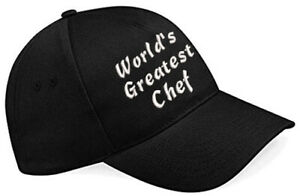 Embroidered World's Greatest............ Black Baseball Cap, Ideal Gift