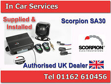 Scorpion SA30 Car & Van Alarm Immobiliser with Central Locking FITTED MIDLANDS