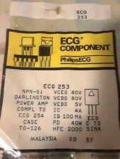 Ecg253 Npn Transistor To-126 Repl Nte253