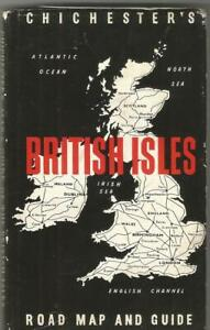Chichester's Road Map & Guide - Great Britain & Ireland - Vintage - c.1950