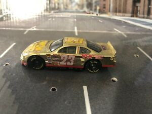 "1998 Racing Champions WCW 50th Anniversary NASCAR ""Gold Plated"" Car Loose"
