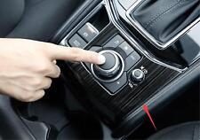 Black titanium Interior Gear Shift Frame Cover Trim For Mazda CX-5 CX5 2017 2018