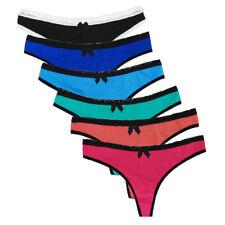 Women Cotton G-String Thongs Sexy T-back Low Waist Panties Briefs Underwear Hot