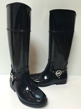 Women's Michael Kors Fulton Harness Tall Rain Boots NAVY Rubber Size 10 NWOB NEW