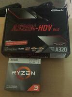 Aufrüstkit AMD Ryzen 3 3200G AM4, ASRock MB A320M-HDV - ohne Arbeitsspeicher