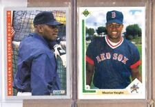 Mo Vaughn - 2 Card Lot-1 1991 Upper Deck Star Rookie+1 1993 Fleer-Red Sox