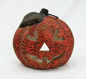 Ceramic Jack-o-Lantern Candle Holder pumpkin Halloween fall decor