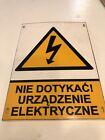 Polish+Electricity+Warning+Sign+with+Lightning+Bolt