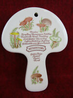 Vintage Weiss Hand Painted Mushroom Hanging Wall Decor, 1980, Made in Brazil MCM