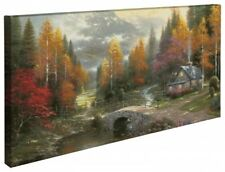 Thomas Kinkade Valley of Peace 16 x 31 Gallery Wrapped Canvas