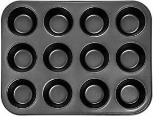 12 CUP MUFFIN CAKE PAN BAKING TRAY TIN FAIRY CUPCAKE STEEL BAKEWARE