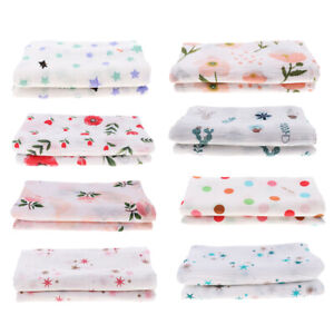 Muslin Swaddle Blankets Cotton Baby Swaddle Wrap, Burping Cloth & Stroller Cover