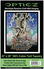 GUARDIAN DRAGON - BLACKLIGHT FABRIC POSTER - 23x28 WALL HANGING TAPESTRY BLF42