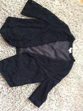 Monsoon Black Lace Lightweight WaterfallJacket Size 16 Immac Hols 25/5 To 3/6