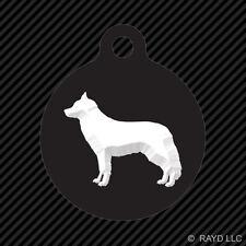 Siberian Husky Keychain Round with Tab dog engraved many colors dog canine pet