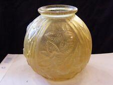 Vase boule Art Déco en Pâte de Verre décor de roses