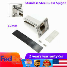 Square Glass Pool Fence Spigot Holder Stair Balustrade Clamp Stainless Steel