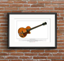 John Lennon's Hofner Club 40 Limited Edition Fine Art Print A3