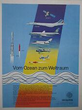 6/1978 PUB AEROSPATIALE CONCORDE ARIANE RALLYE AIRBUS CORVETTE EXOCET GERMAN AD