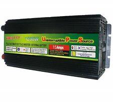 DC-AC Power Inverter+Charger & UPS 1200W 2400W(peak) 12V to 220V For Solar/Wind