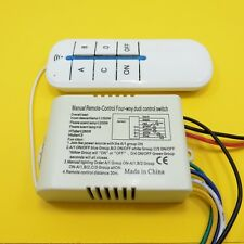 ON/OFF Wireless Remote Control 220V 4 Way Digital Switch Light Button Controller