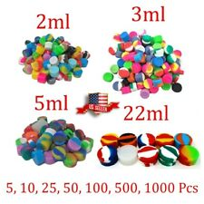 2ml 3ml 5ml 22ml Silicone Container Jar Non-Stick Mixed colors Round Wholesale