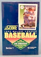 1992 SCORE Series 1 Baseball Cards Factory Sealed Box