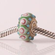 1pcs SILVER High Quality GLASS BEAD LAMPWORK Fit European Charm Bracelet JXH031