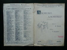 Spartito Ammore Ammore! Stornelli Napoletani Valente Cinquegrana Bideri 1894