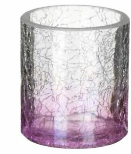 Yankee Candle - SAVOY LIGHT PURPLE CRACKLE Glass Votive Holder - NEW with Tags