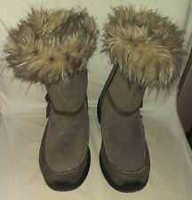 SOREL BOOTS SIZE 9 NORTHERN LIGHTS TALL BROWN THINSULATE FLUFFY FUR WINTER BOOT