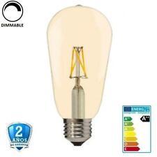 Bombilla LED E27 8W ST64 700lm Apertura 300º Dimmable (Regulable) Golden Glass F