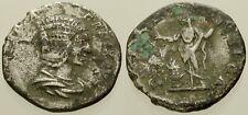 015. Roman Coin. JULIA DOMNA, Fouree Denarius. Pietas. Fine
