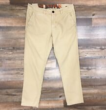 SUNDEK Men Pants Beige Color Size 30 100% Cotton Zip Closure AMQ0177