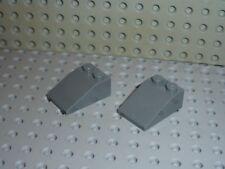 2 x LEGO Dkstone slope brick 3298 / set 7675/7261/4508/7945/6243/7888/7664/7244.