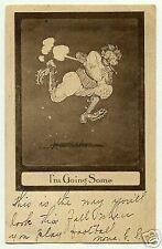Tarjeta postal de fútbol americano