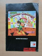 SNES - MANUAL ONLY - Mickey's Ultimate Challenge