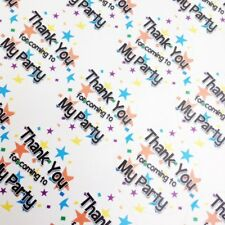 35 X 35mm Thank You for Coming to My Party Sweet Cone Bag Stars Stickers Labels