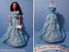 Vintage Gordon Hawaiian Dress Blue / Barbie Doll Babs Bild Lilli Jamie Stacey sz