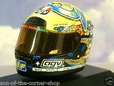 SUPERBE MINICHAMPS 1/8 AGV COURSE CASQUE VALENTINO ROSSI #46 GP 250 1999