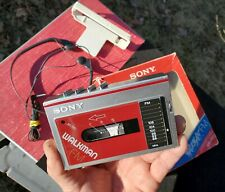 Sony Wm F-10 Walkman Cassette Fm Stereo In Excellent Condition 1984 Vintage
