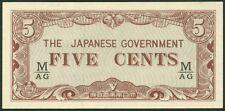 TWN - MALAYA M2b - 5 Cents 1942 AU/UNC BLOCK M/AG