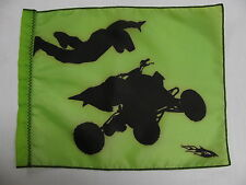 DuneRats Original Custom ATV Motorcycle Safety Whip Flag - Wheeler Green
