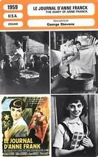 FICHE CINEMA : LE JOURNAL D'ANNE FRANCK - Perkins,Winters,Stevens 1959