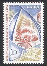 France 1977 CHEMIN DE FER/bâtiments/CONSTRUCTION 1 V (n23444)
