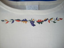 Shirt Ladies Casual Cream Boatneck Shirt By Avon Size Small Embroidered Top NEW!