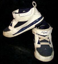 395561-112 Nike JORDAN FLIGHT 9 Toddler Navy/ White Basketball Sneakers Shoe 10C