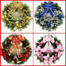 40cm Christmas Large Wreath Door Wall Ornament Garland Decoration Red FE